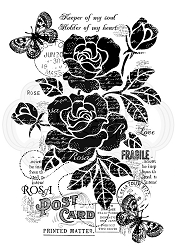 Woodware Craft - Clear Stamp - Vintage Rose