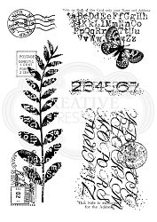 Woodware Craft - Clear Stamp - Postal Mix