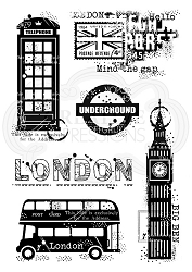 Woodware Craft - Clear Stamp - London Elements