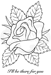 Woodware Craft - Clear Stamp - Rose Bloom