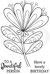 Woodware Craft - Clear Stamp - Bold Blooms - Wendy