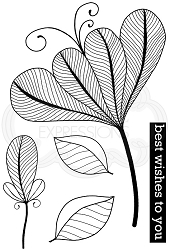 Woodware Craft - Clear Stamp - Bold Blooms - Vivian