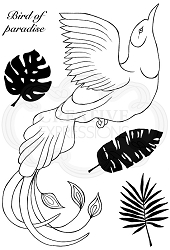 Woodware Craft - Clear Stamp - Paradise Bird