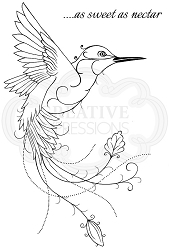 Woodware Craft - Clear Stamp - Hummingbird