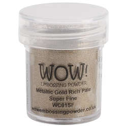 WOW! - Embossing Powder - Metallic Gold Rich Pale Super Fine (15ml)