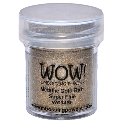 WOW! - Embossing Powder - Metallic Gold Rich Super Fine (15ml)