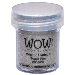 WOW! - Embossing Powder - Metallic Platinum Super Fine (15ml)