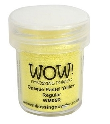WOW! - Embossing Powder - Opaque Pastel Yellow (15ml)