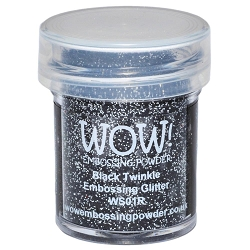 WOW! - Embossing Powder - Black Twinkle Glitter (15ml)