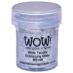 WOW! - Embossing Powder - White Twinkle Glitter (15ml)