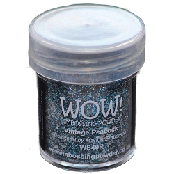 WOW! - Embossing Powder - Vintage Peacock Glitter (15ml)