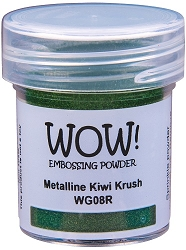 WOW! - Embossing Powder - Metalline Kiwi Krush (15ml)