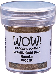WOW! - Embossing Powder - Metallic Rich Gold Regular (15ml)