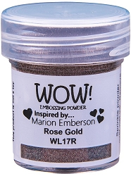 WOW! - Embossing Powder - Rose Gold by Marion Emberson (15ml)