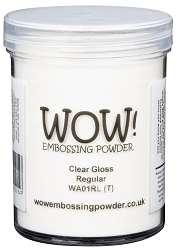 WOW! - Embossing Powder - Clear Gloss Regular (Large jar 160ml)