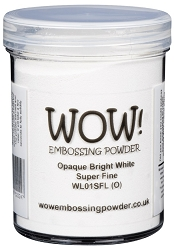 WOW! - Embossing Powder - Opaque Bright White Super Fine (Large jar 160ml)