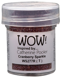 WOW! - Embossing Powder - Cranberry Sparkle by Catherine Pooler (15ml)