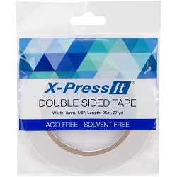 X-Press It - Double Sided Tape - 3mm x 27yd (1/8