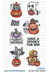 Your Next Stamp - Clear Stamp - Spooky Fun