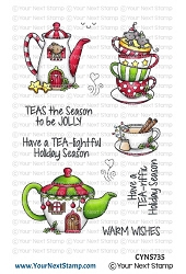 Your Next Stamp - Clear Stamp - Holiday Tea