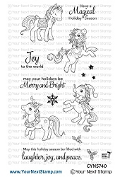 Your Next Stamp - Clear Stamp - Holiday Ponies