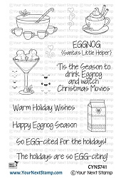 Your Next Stamp - Clear Stamp - Happy Eggnog Season