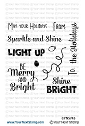 Your Next Stamp - Clear Stamp - Holiday Lights Sentiments