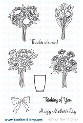 Your Next Stamp - Clear Stamp - Bunches of Happiness