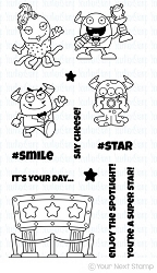 Your Next Stamp - Clear Stamp - Silly Monsters Say Cheese
