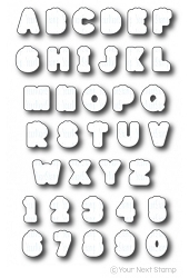Your Next Stamp - Dies - Smiley Happy Alphabet