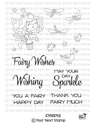 Your Next Stamp - Clear Stamp - Wishing Well Fairy