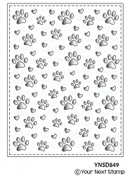 Your Next Stamp - Dies - Paw Print Panel Die