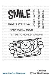 Your Next Stamp - Clear Stamp - Cheeky Monkey