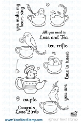 Your Next Stamp - Clear Stamp - Love Birds