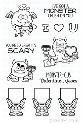 Your Next Stamp - Clear Stamp - Silly Love Monsters