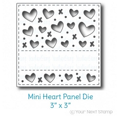 Your Next Stamp - Dies - 3x3 Heart Panel Die