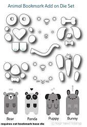 Your Next Stamp - Dies - Cute Animals Bookmark Add-on