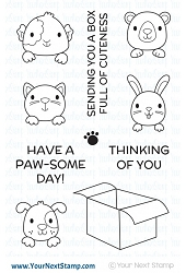 Your Next Stamp - Clear Stamp - Box Full of Cuteness