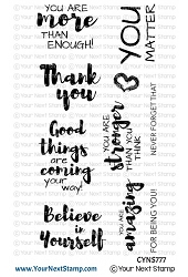 Your Next Stamp - Clear Stamp - Positive Affirmations