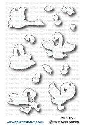 Your Next Stamp - Dies - Swan-derful