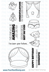 Your Next Stamp - Clear Stamp - Waddles Fortune Teller