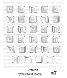 Your Next Stamp - Clear Stamp - Baby Blocks