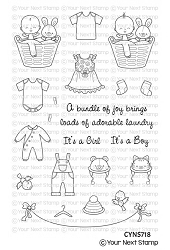 Your Next Stamp - Clear Stamp - Baby Clothes