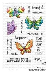 Your Next Stamp - Clear Stamp - Spread Your Wings