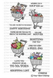 Your Next Stamp - Clear Stamp - Crazy Fun Shopping Carts