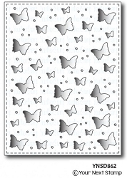 Your Next Stamp - Dies - Butterfly Panel Die