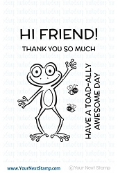 Your Next Stamp - Clear Stamp - Froggie Friend