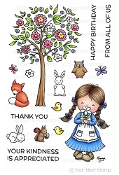 Your Next Stamp - Clear Stamp - Woodland Jessica