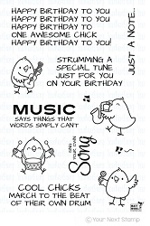 Your Next Stamp - Clear Stamp - Music Chicks