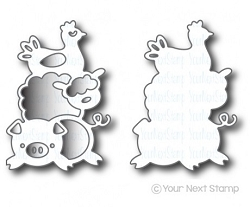 Your Next Stamp - Dies - Farm Animal Stack Die Set